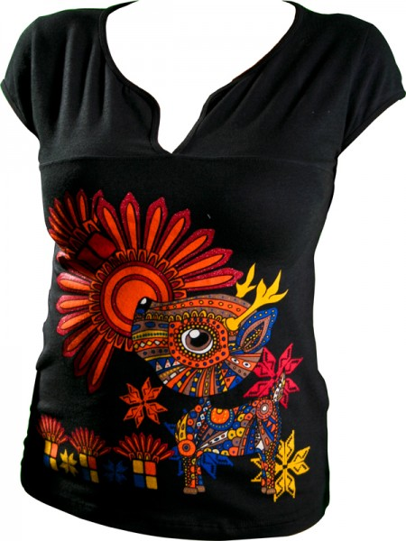 Damen Shirt aus Mexiko-Alebrijes Damen