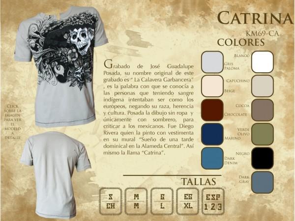 """T Shirt Herren aus Mexiko """"Catrina"""""""