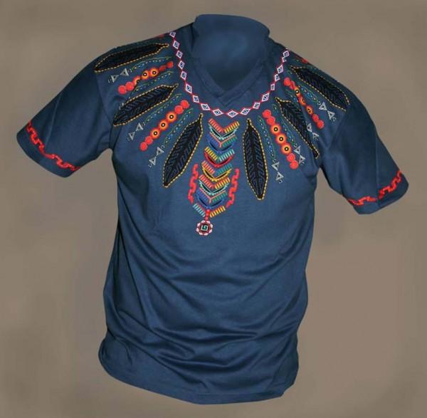 T Shirt Herren aus Mexiko (Denim)