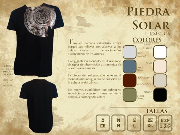"T Shirt Herren aus Mexiko ""Piedra solar"""